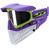 JT Proflex LE Thermal Paintball Goggles Purple Lime White Chrome