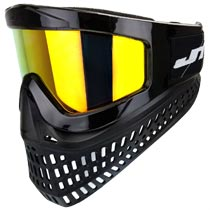 JT Proflex X Thermal Paintball Goggles Black w Yellow Retro Prizm Lens
