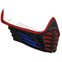 Virtue VIO Facemask Red Blue Black