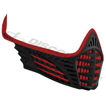 Virtue VIO Facemask Red Red Black