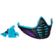 Virtue VIO Facemask Cyan Purple Black