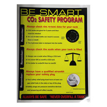 Paintball Co2 Safety Banner - Yellow
