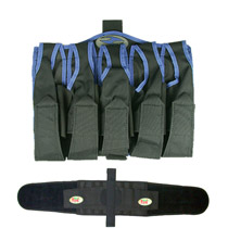 Redz / 32D Paintball Harness 5+4 Blue with Belt