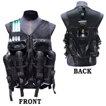 GXG Lightweight Tactical Paintball Vest Black