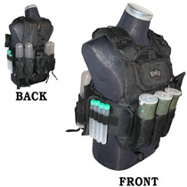 GXG Tactical Paintball Vest Black