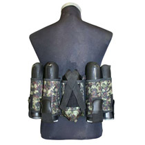 GXG Vertical 4 + 1 Paintball Harness Digital Camo Green
