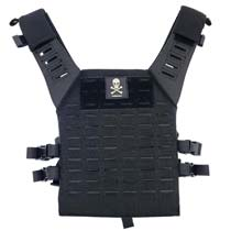 Valken Alpha Plate Carrier LC Paintball Vest Black Skull