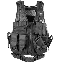 Valken Crossdraw Vest Black Adult
