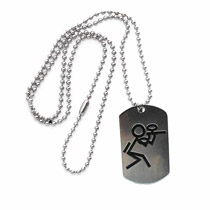 Paintball Stickman Dog Tag
