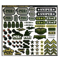 PCS Paintball Sticker Sheet # 1