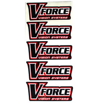 VForce Paintball Sticker Red 5 Pack