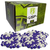 First Strike Ultra Spherical Projectiles USP 600 Count Purple Clear Shell White Powder Fill