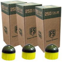 First Strike Rounds 250 Count Yellow Smoke Shell Yellow Fill - 3 BOXES FOR PRICE OF 2 (750 rounds total)