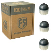 First Strike Rounds 100 Count Smoke Silver Shell White Fill