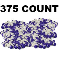 PepperBall .68 Caliber Inert Rounds 375 Count Purple Clear Shell White Powder Fill