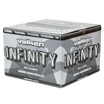 Valken Infinity Paintballs 2000 Rounds White Shell White Fill