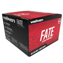 Valken Fate 2000 Rounds .50 Caliber Paintballs Yellow Shell Yellow Fill