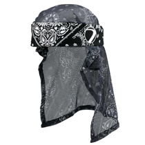 Dye Head Wrap Bandana Black