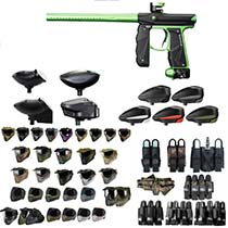 Empire Mini GS Paintball Gun Black Lime - Black Friday Special