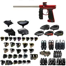 Empire Mini GS Paintball Gun Red / Silver - Black Friday Special