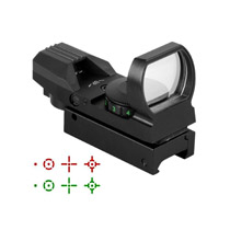 First Strike Compact Open Dot Sight W/Weaver Rail 4 Recticle Red and Green