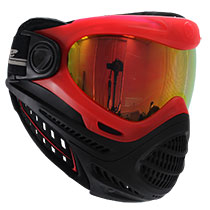 Dye Axis Pro Paintball Mask Red Bronze Fire