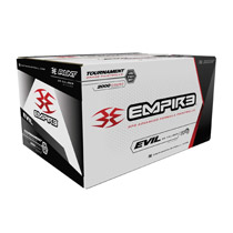 Empire Ultra Evil 2000 Paintballs Metallic Red shell Yellow fill