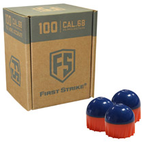First Strike Rounds 100 Count Blue Orange Shell Orange Fill