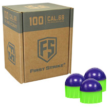 First Strike Rounds 100 Count Purple Green Shell Green Fill