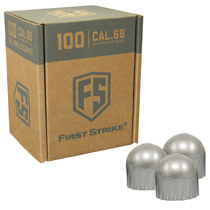First Strike Rounds 100 Count Silver Shell White Fill