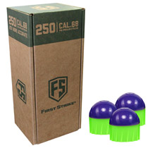 First Strike Rounds 250 Count Purple Green Shell Green Fill