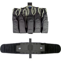 32D Paintball Harness 5+4 Gray with Belt