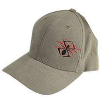 Kingman Spyder Scratch Baseball Hat Gray Small Medium