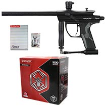 Spyder Fenix Paintball Gun Diamond Black with 1000 Premium Grade Paintballs