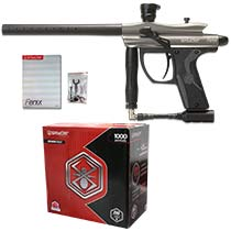 Spyder Fenix Paintball Gun Silver Grey with 1000 Premium Grade Paintballs