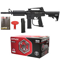 Spyder MR6 Paintball Marker Diamond Black with 500 Premium Grade Paintballs