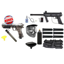 Tippmann 98 Custom Platinum Series Ultra Basic Paintball Starter Package and JT ER2 Pistol