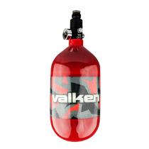 Valken 68ci 4500psi Carbon Fiber Compressed Air Tank Riot Red