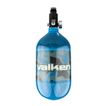 Valken 68ci 4500psi Carbon Fiber Compressed Air Tank Riot Blue
