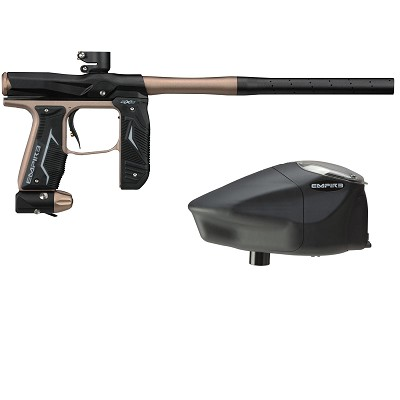 Empire Axe 2.0 Paintball Marker Dust Black/Dust Tan w Prophecy Z2 Loader