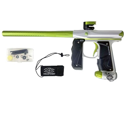 Empire Mini GS Paintball Marker Silver/Green Dust