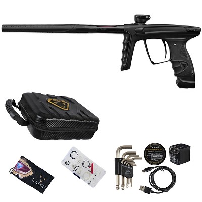 DLX Luxe X Paintball Gun Dust Black Polished Black Accents