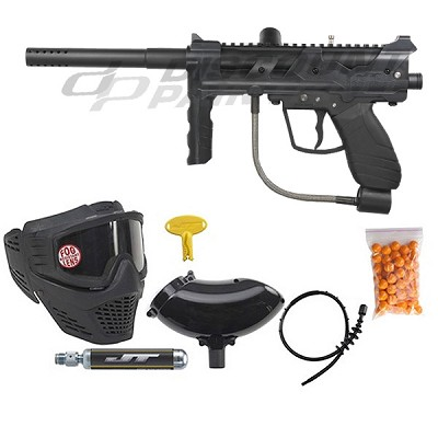 JT Outkast Ready To Play Paintball Package - Black
