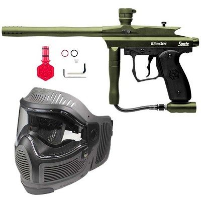 Spyder Sonix Paintball Gun Players Kit Olive