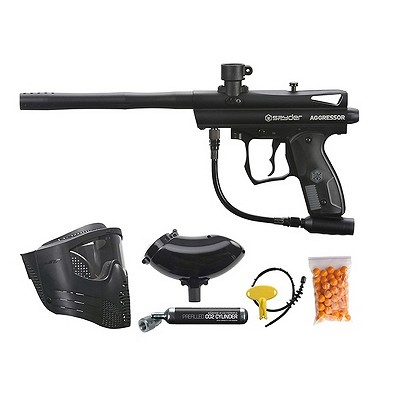 Spyder Aggressor Ready To Play Paintball Package Black