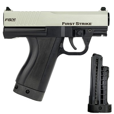 First Strike FSC Compact Paintball Pistol Silver Black LE