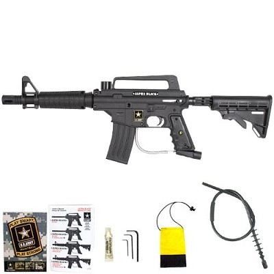 US Army Alpha Black E-Grip Tactical Paintball Gun Tippmann