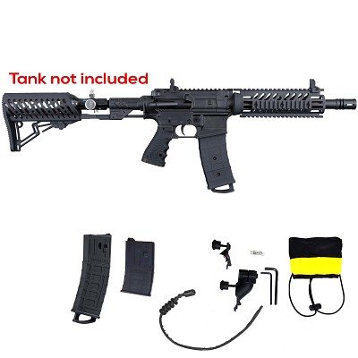 Tippmann TMC Mag Fed Paintball Marker w/ Air Thru Stock Black