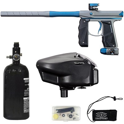 Empire Mini GS Paintball Marker Grey / Navy Blue Dust w 2 PC Barrel Rookie Package