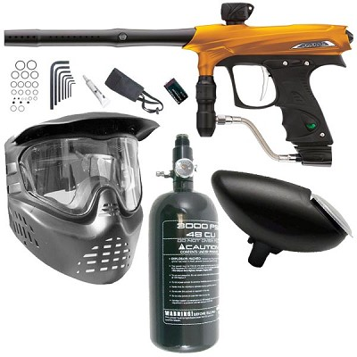 Proto Rail Paintball Marker Beginner Package - Orange Dust